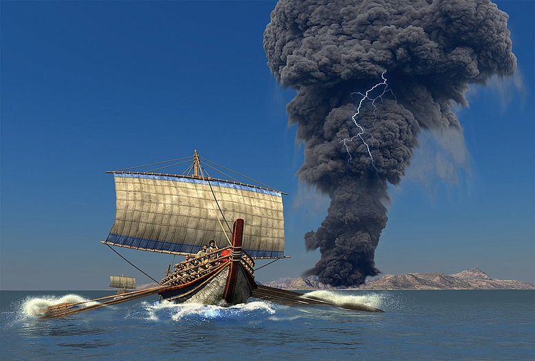 Rekonstruktion eines zeitgenössischen Schiffes