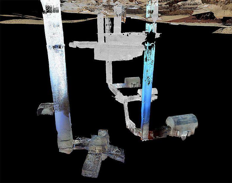 Laserscan Grabanlage Sakkara