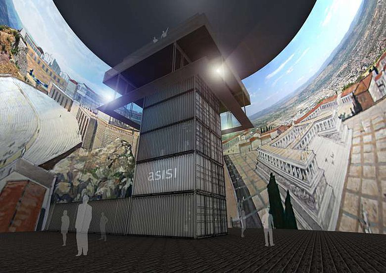 Innenrund im Pergamonpanorama aus der Froschperspektive. Visualisierung 2011 (© Asisi)