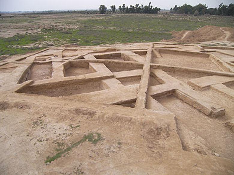 Das ausgegrabene Verwaltungszentrum in Haft Tappeh