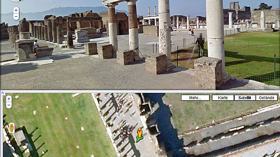 Virtueller Besuch in Pompeji