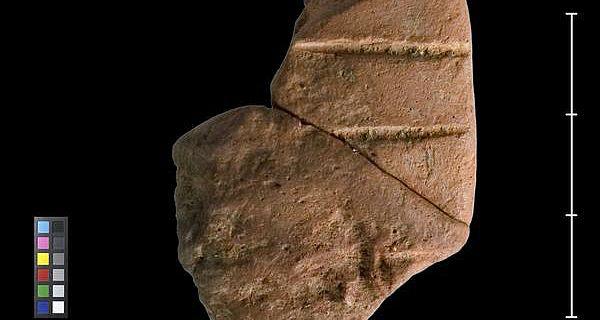 Tafelfragment mit Linear B - Inschrift