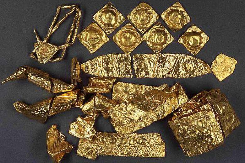 Die Goldbleche aus Bernstorf (© Uni Frankfurt)