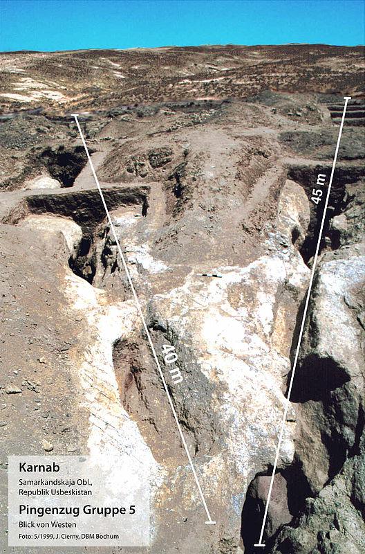 Prähistorische Zinngruben in Usbekistan