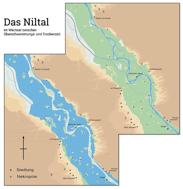 Niltal: Überschwemmungs- und Trockenzeit
