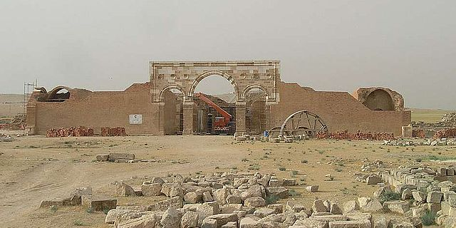 Qasr al-Mschatta in Jordanien