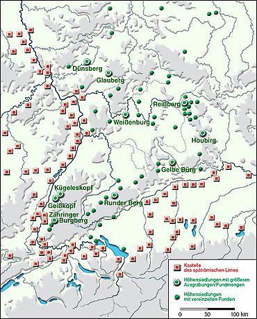Höhensiedlungen des 4./5. Jahrhunderts in Südwestdeutschland