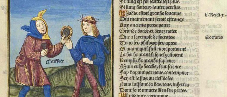 """Seite aus einer französischen Version des """"Narrenschiffs"""""""