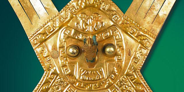 Goldener Inka-Kopfschmuck