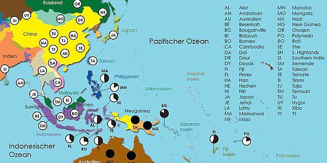 Genanteile des Denisova-Menschen in Südostasien
