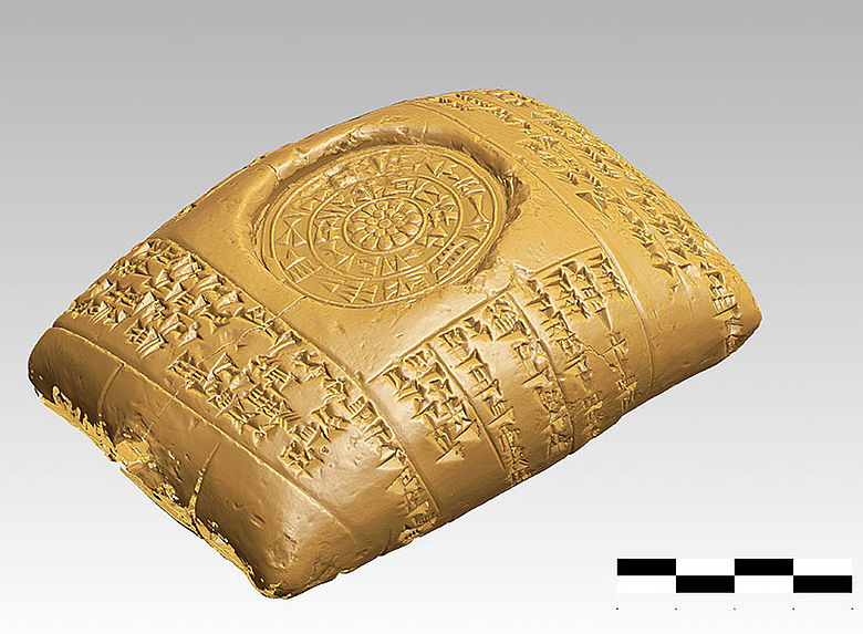 3D-Modell Tontafel mit Keilschrift