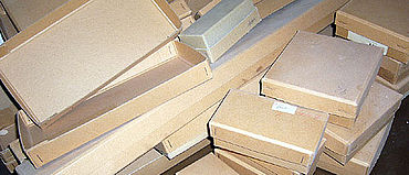 In diesen Boxen der 50er Jahren lagerten die Weingartener Funde bis vor Kurzem.