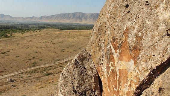 Felzeichnung Pferde Eisenzeit