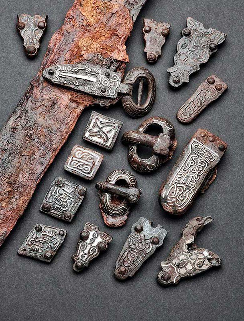 Grabbeigaben des Kriegers von Bergkamen