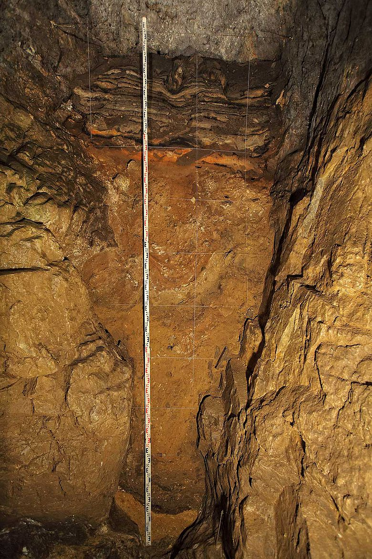 Ausgrabungsprofil Denisova Höhle