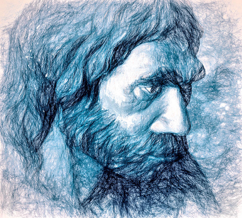 Portrait eines Neandertalers