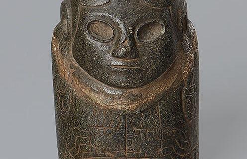 Steinfigur aus Tiwanaku/Bolivien