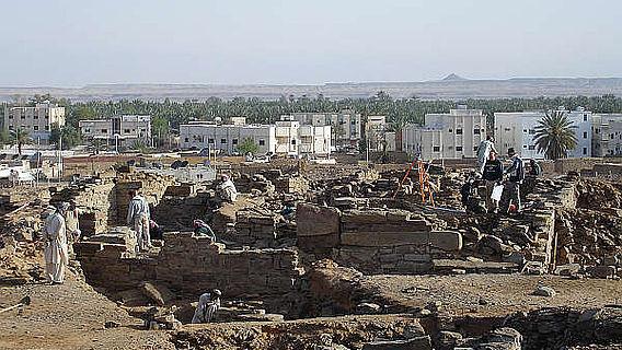 Der Fundort des neu entdeckten Textfragments in der Oase Tayma (Foto: DAI)
