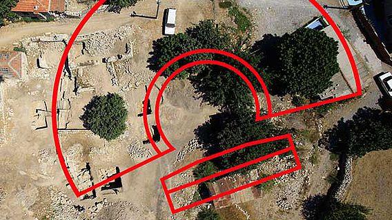 Luftbildaufnahme des Theaters