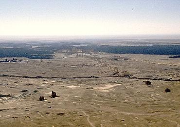 Oase Tadmor mit den Ruinen von Palmyra