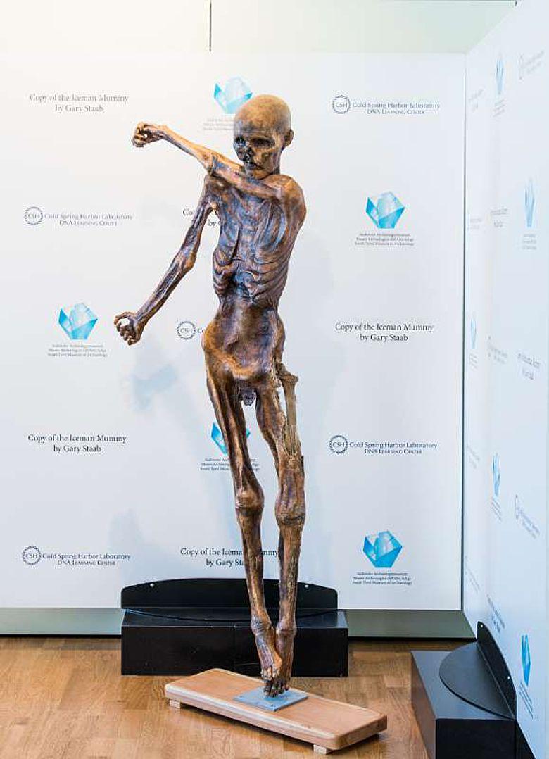 Kopie der Mumie Ötzi