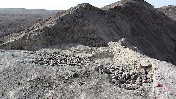 Die Ausgrabungsstätte Bokol Dora während der Grabungen im Jahr 2015
