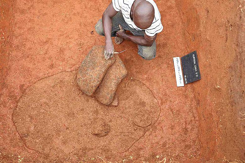 Mutmaßlicher Grabbefund der Nok-Kultur