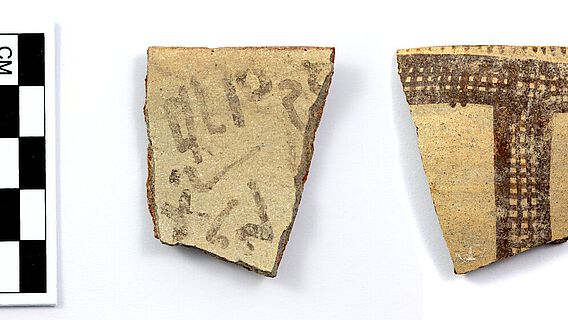 Frühalphabetische Inschrift auf einer zyprischen Scherbe