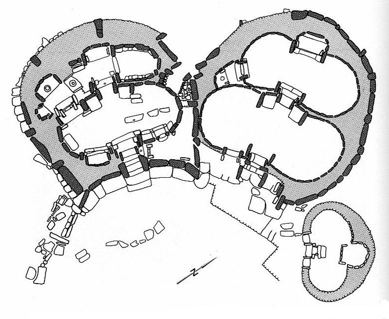 Steinplan der Tempelanlage Mnajdra