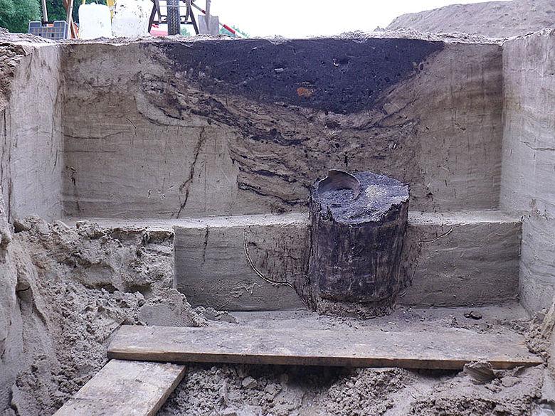 Freigelegter Mittelalterlicher Brunnen