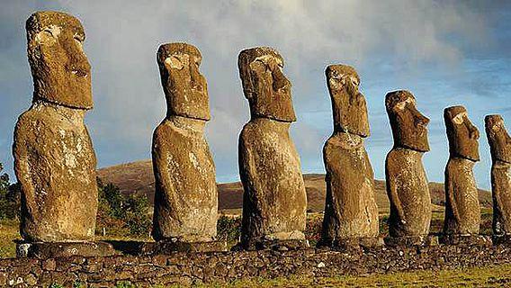 Moai Skulpturen auf der Osterinsel