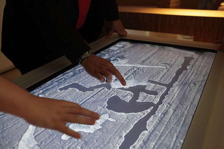 Der Multi-Touch-Table (Foto: Martin Grubinger, FHSTP)
