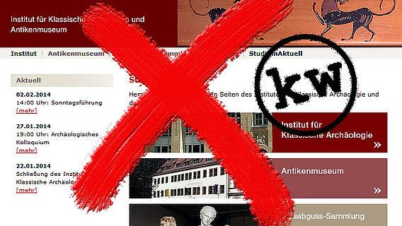 Schließung des Instituts für Klassische Archäologie