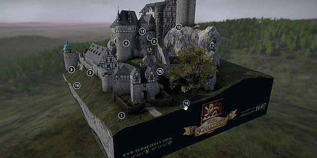 Burg Scharzfels (3D-Rekonstruktion)