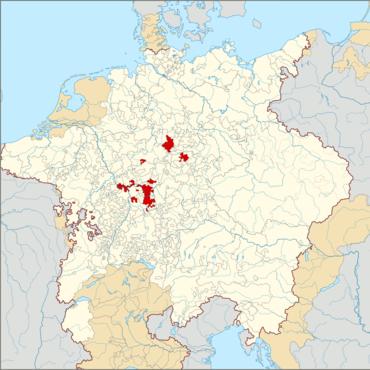 Kurmainz im Heiligen Römischen Reich um 1618