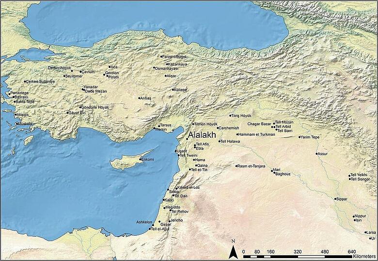 Landkarte Alalakh