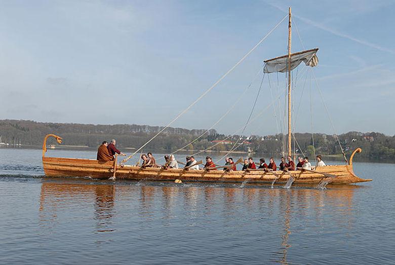 Das rekonstruierte Römerschiff Victoria