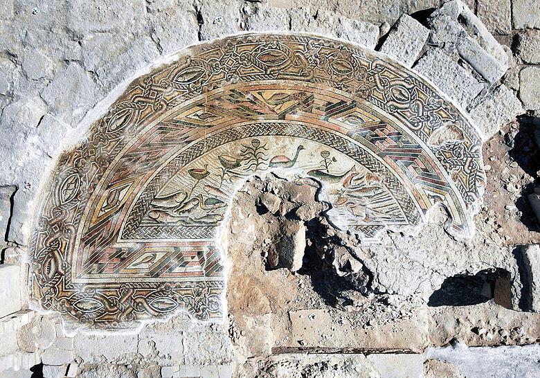 Mosaikboden der Basilika von Doliche