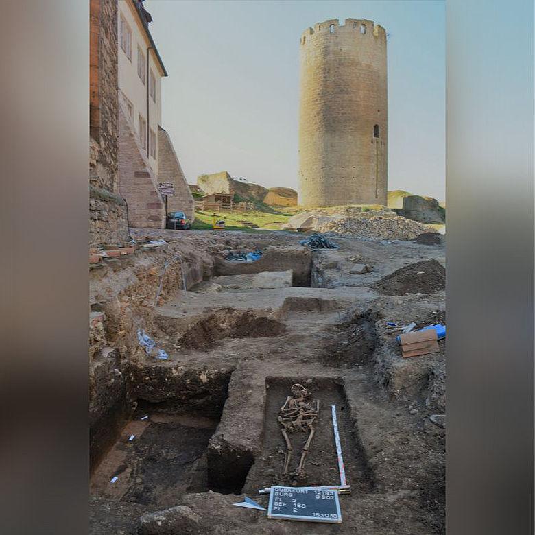 Mittelalterliche Bestattungen auf Burg Querfurt