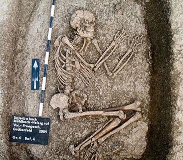 Jungsteinzeitliche Bestattung