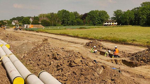 Ausgrabung Gelsenwasser-Trasse