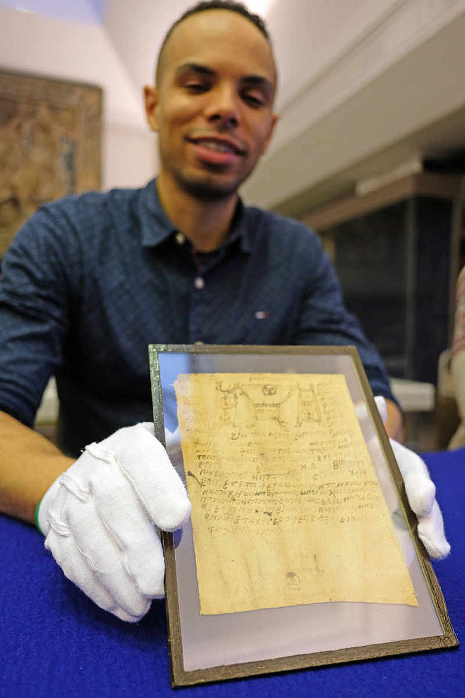 Koptisches Papyrus mit magischen Sprüchen
