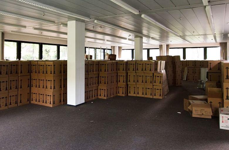 5.000 Bücherkisten zogen innerhalb weniger Tage um. Foto © DAI