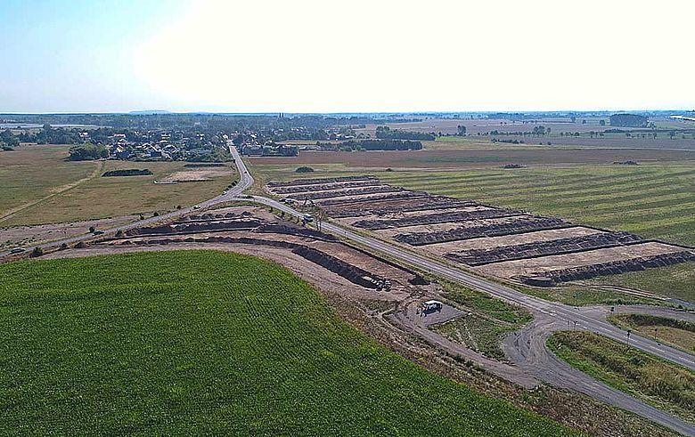 Luftbild Ausgrabungen