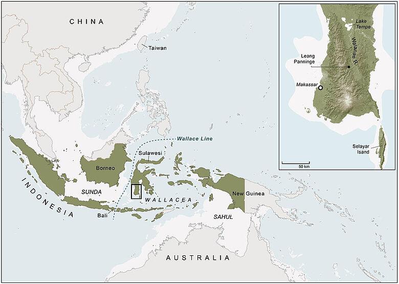 Karte von Südostasien mit Sulawesi