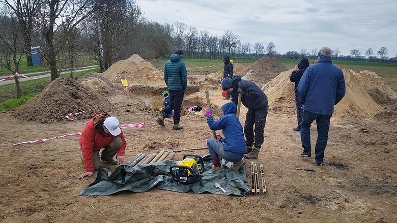 Ausgrabung bei Lichtenberg