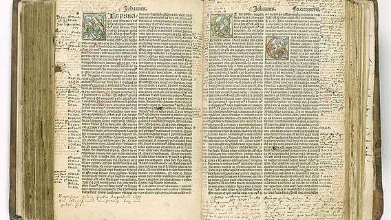 Die Myconius-Bibel aus dem 16. Jhd. (Foto: Sergej Tan/ Forschungsbibliothek Gotha)