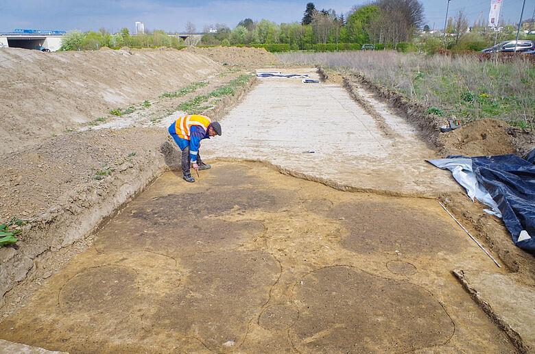 Archäologische Befunde im Planum