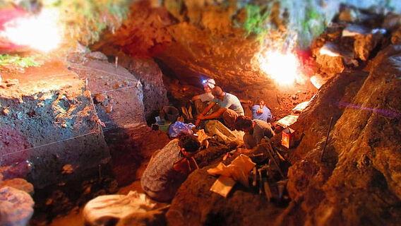 Ausgrabungen in der Satsurblia-Höhle