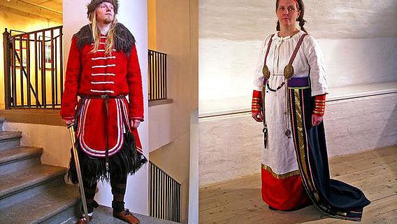 Männer- und Frauenkleidung der Wikingerzeit
